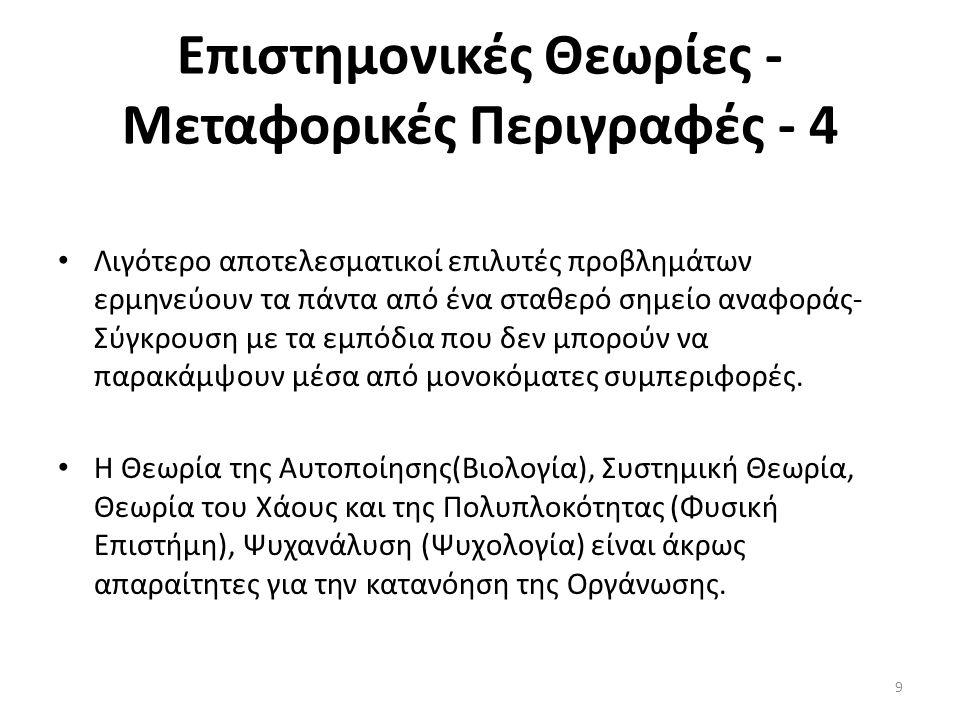 Επιστημονικές Θεωρίες - Μεταφορικές Περιγραφές - 4