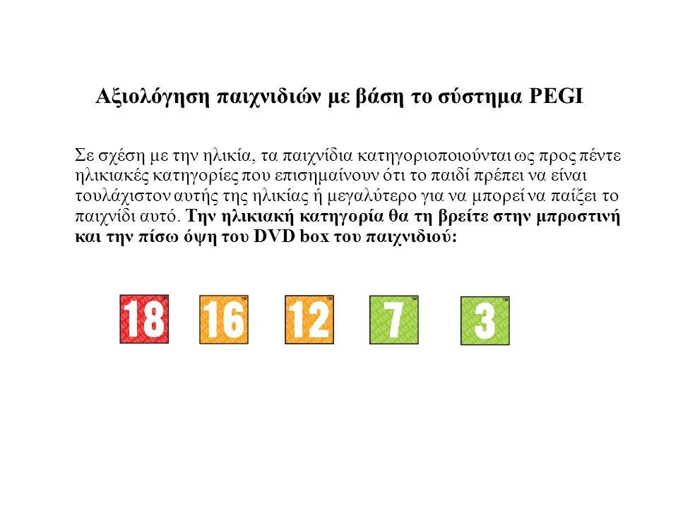 Αξιολόγηση παιχνιδιών με βάση το σύστημα PEGI