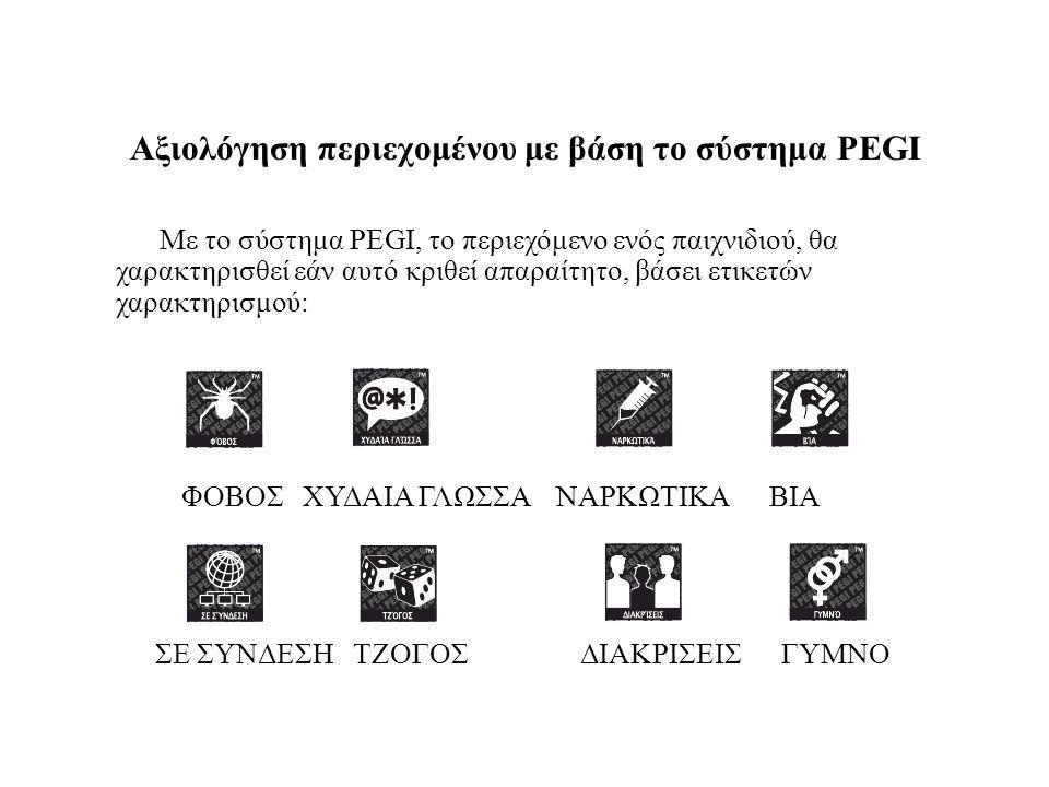 Αξιολόγηση περιεχομένου με βάση το σύστημα PEGI
