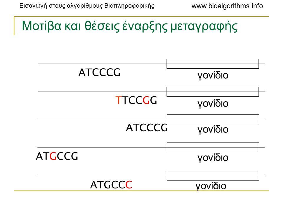 Μοτίβα και θέσεις έναρξης μεταγραφής