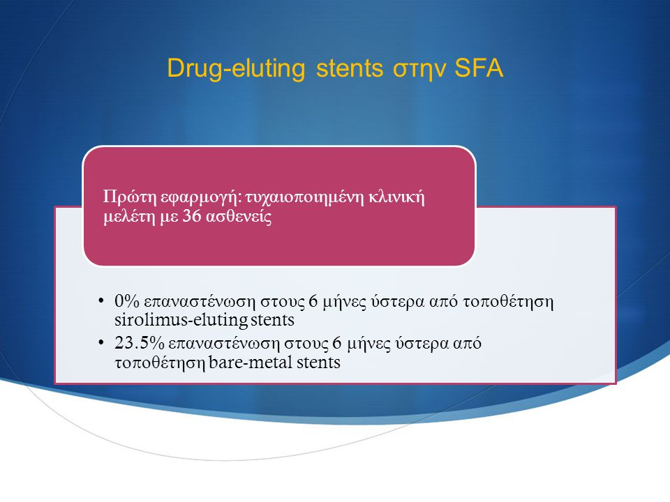 Drug-eluting stents στην SFA