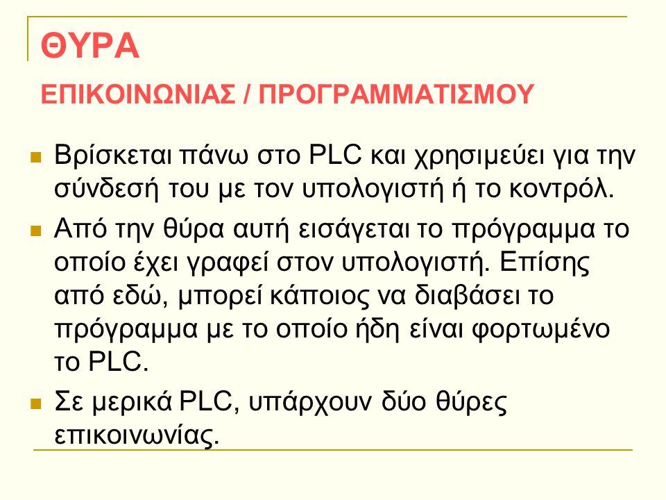ΘΥΡΑ ΕΠΙΚΟΙΝΩΝΙΑΣ / ΠΡΟΓΡΑΜΜΑΤΙΣΜΟΥ