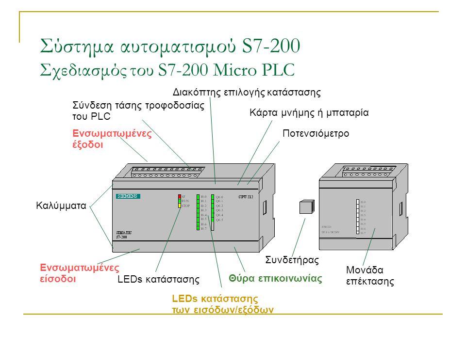 Σύστημα αυτοματισμού S7-200 Σχεδιασμός του S7-200 Micro PLC