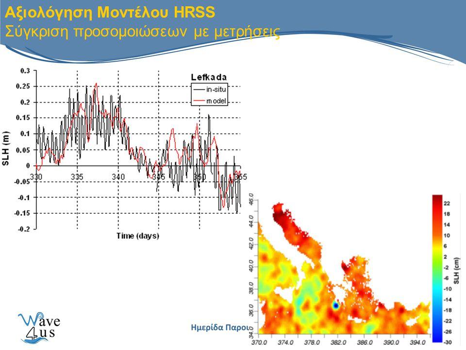 Αξιολόγηση Μοντέλου HRSS Σύγκριση προσομοιώσεων με μετρήσεις