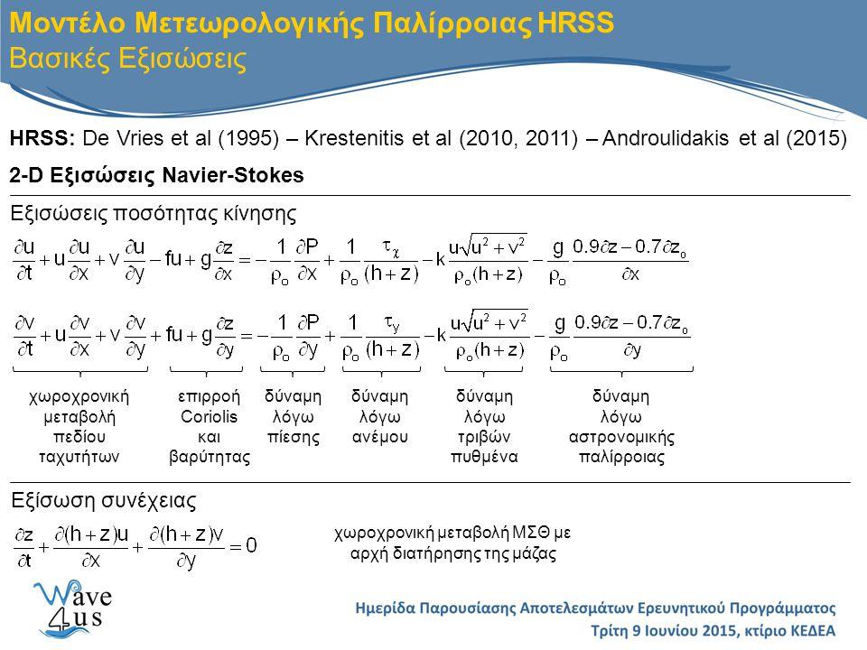 χωροχρονική μεταβολή ΜΣΘ με αρχή διατήρησης της μάζας