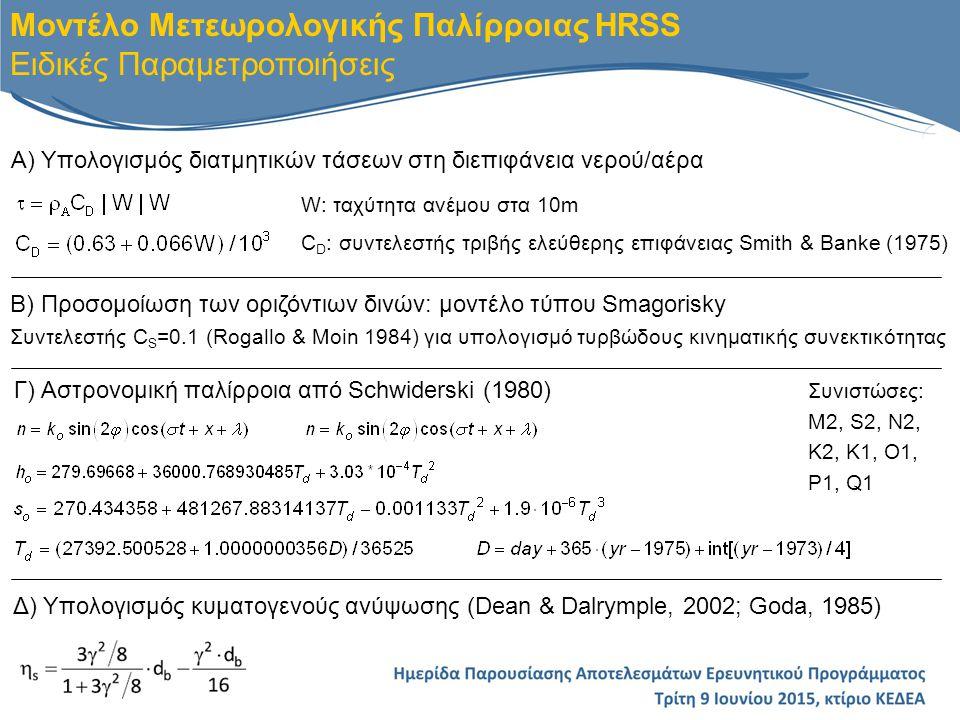 Γ) Αστρονομική παλίρροια από Schwiderski (1980)