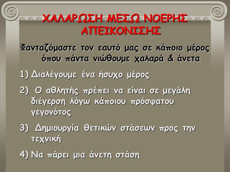 ΧΑΛΑΡΩΣΗ ΜΕΣΩ ΝΟΕΡΗΣ ΑΠΕΙΚΟΝΙΣΗΣ