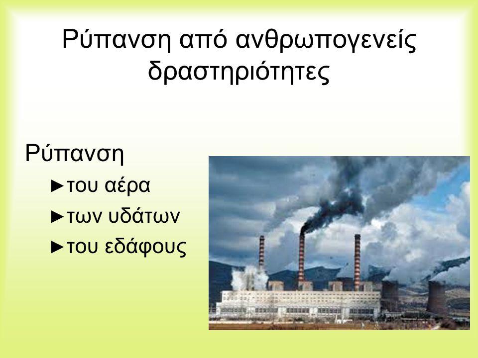 Ρύπανση από ανθρωπογενείς δραστηριότητες