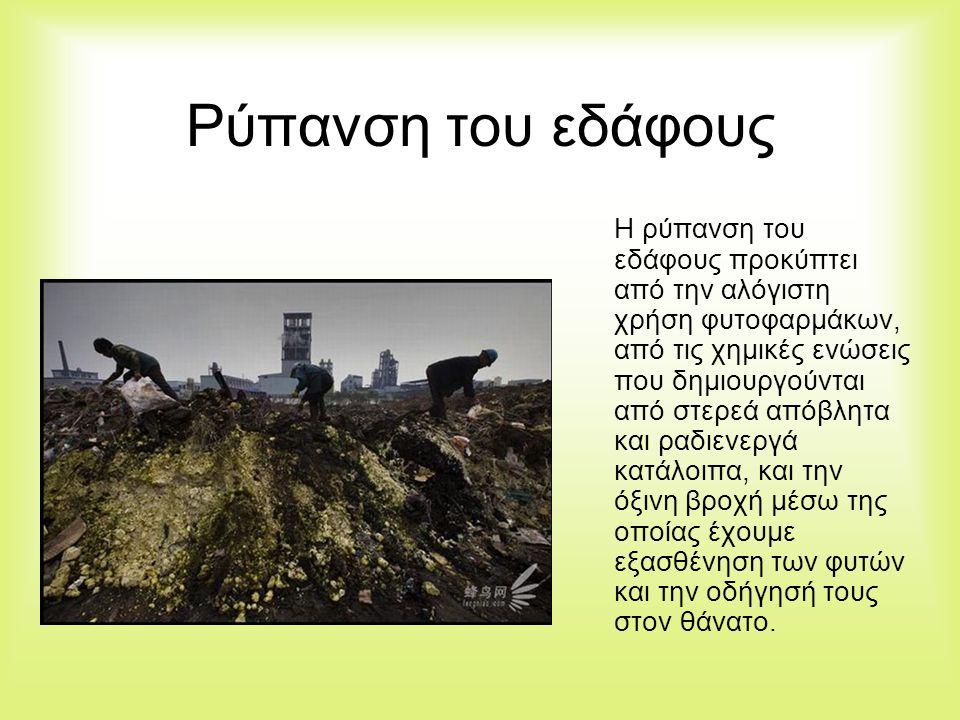 Ρύπανση του εδάφους