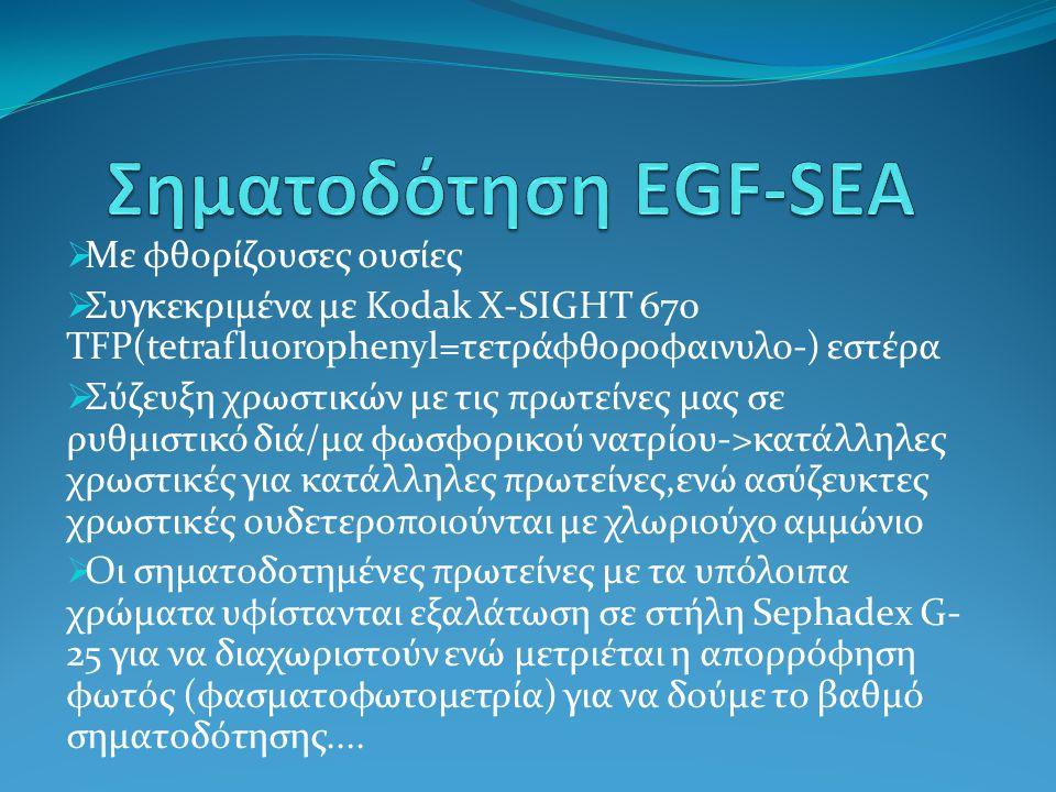 Σηματοδότηση EGF-SEA Με φθορίζουσες ουσίες