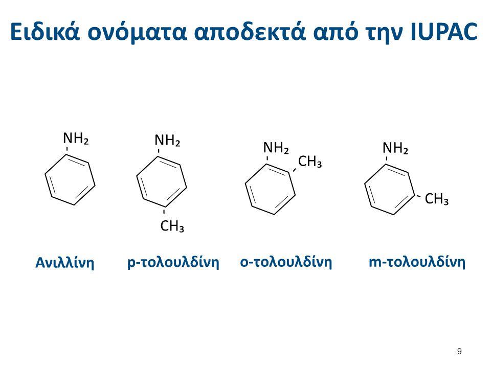 Συνήθη ονόματα: Αλκύλιο + αμίνη