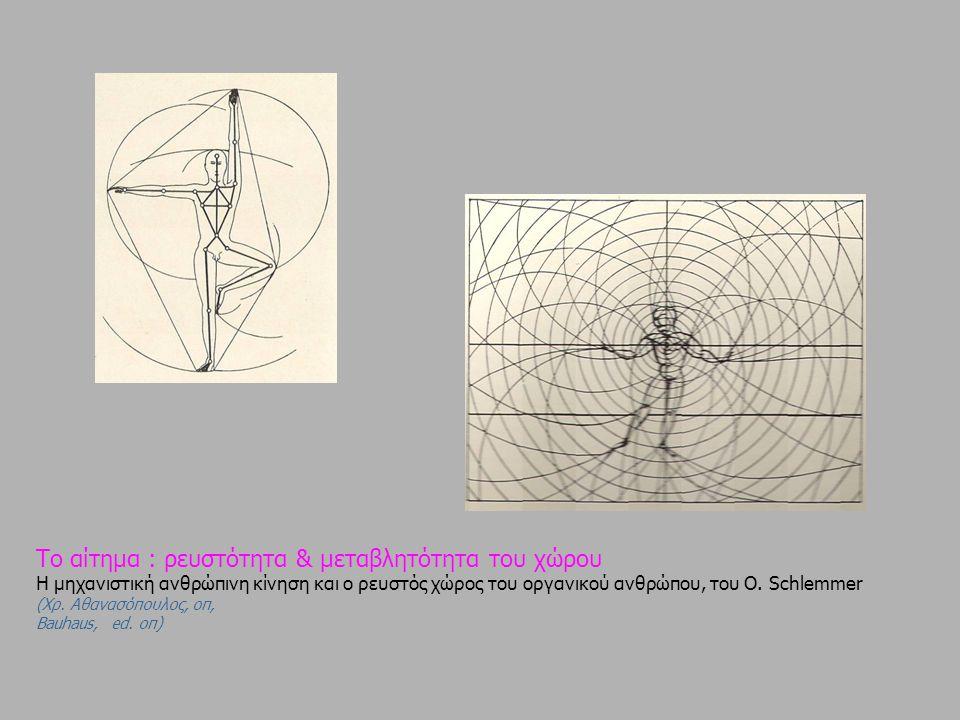Το αίτημα : ρευστότητα & μεταβλητότητα του χώρου Η μηχανιστική ανθρώπινη κίνηση και ο ρευστός χώρος του οργανικού ανθρώπου, του Ο.