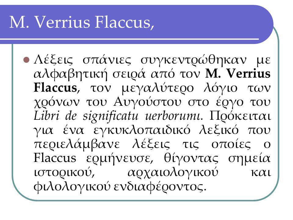 M. Verrius Flaccus,