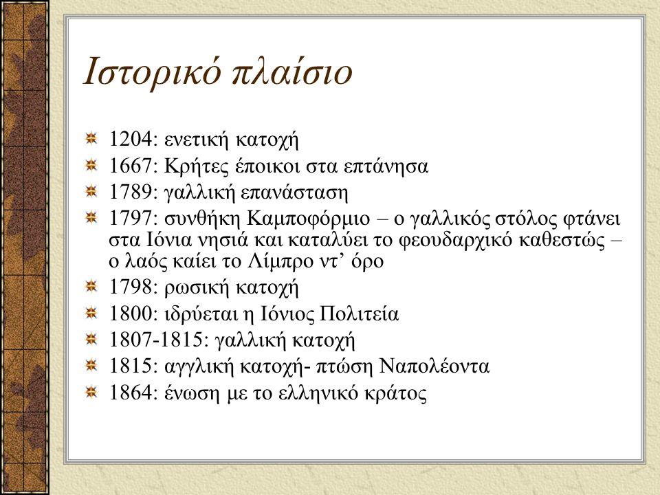Ιστορικό πλαίσιο 1204: ενετική κατοχή