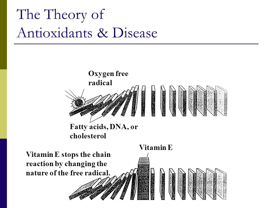 The Theory of Antioxidants & Disease