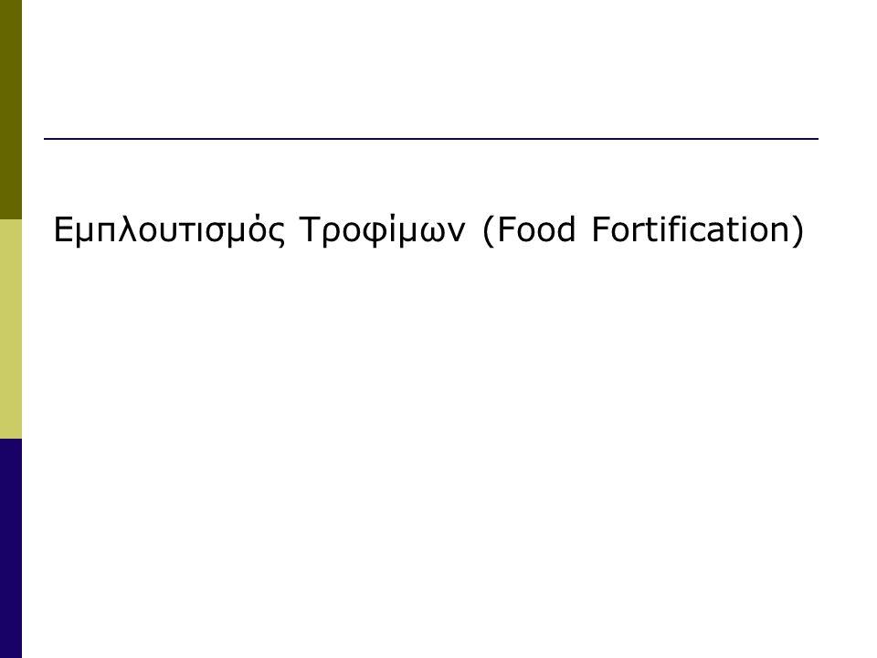 Εμπλουτισμός Τροφίμων (Food Fortification)