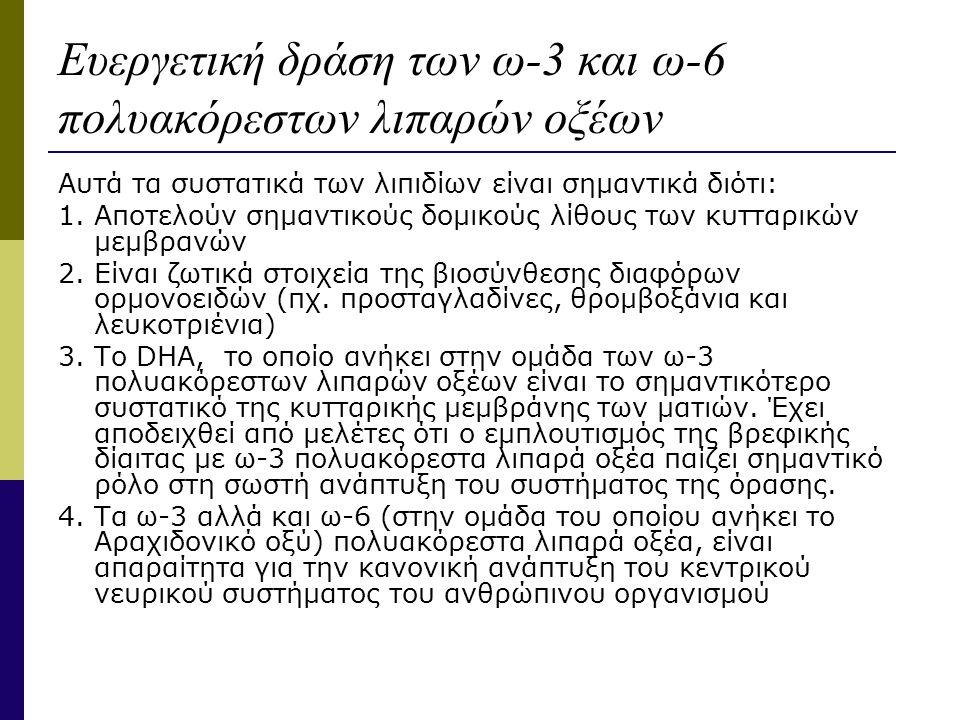 Ευεργετική δράση των ω-3 και ω-6 πολυακόρεστων λιπαρών οξέων