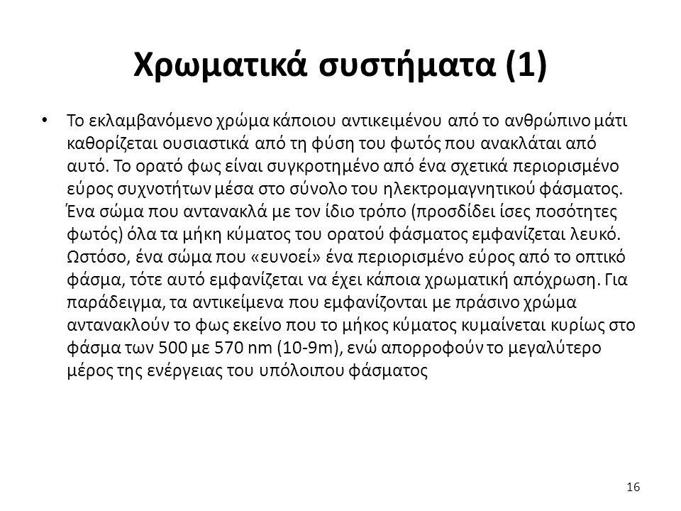 Χρωματικά συστήματα (1)