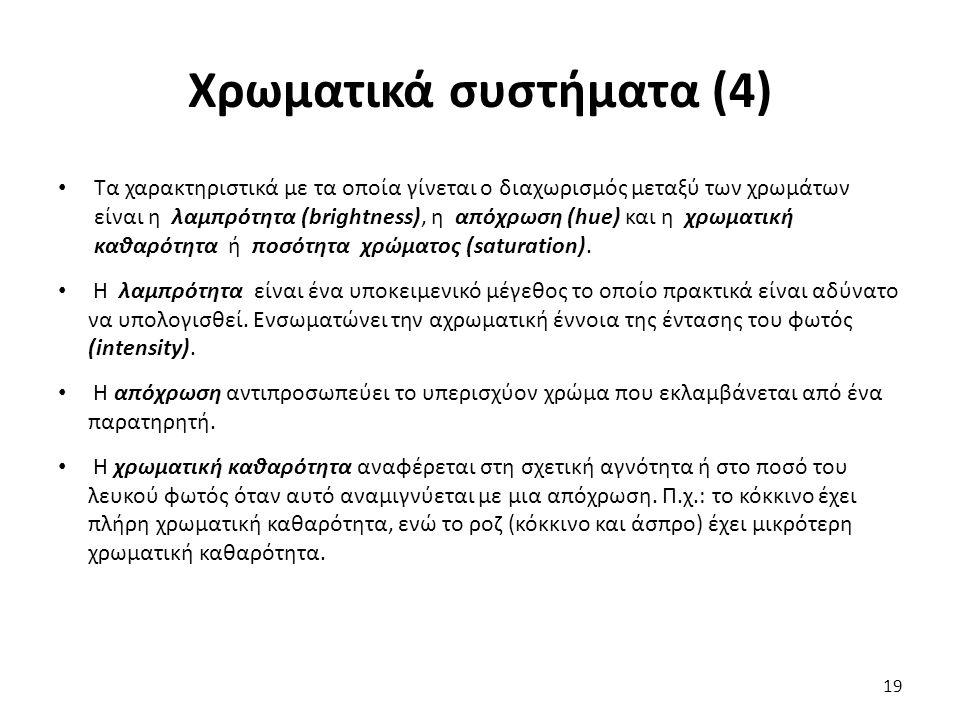 Χρωματικά συστήματα (4)