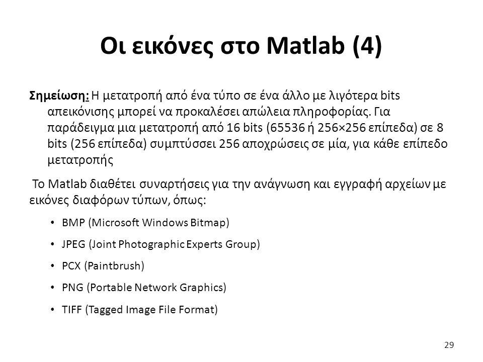 Οι εικόνες στο Matlab (4)