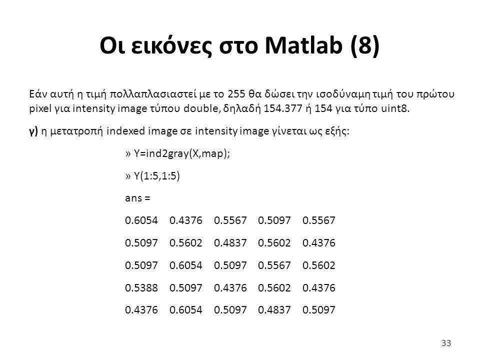 Οι εικόνες στο Matlab (8)