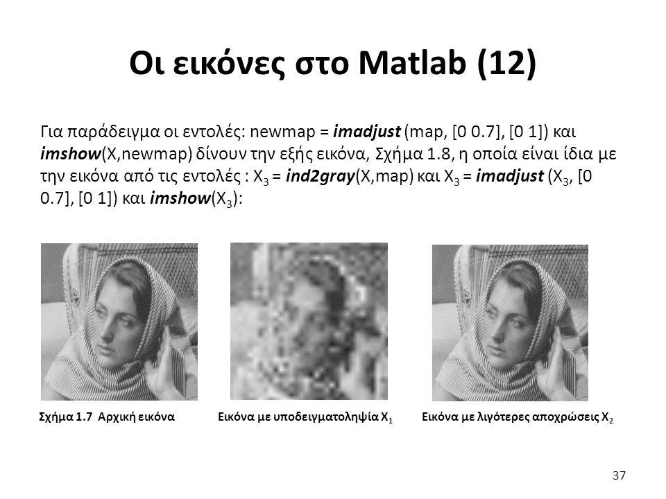 Οι εικόνες στο Matlab (12)