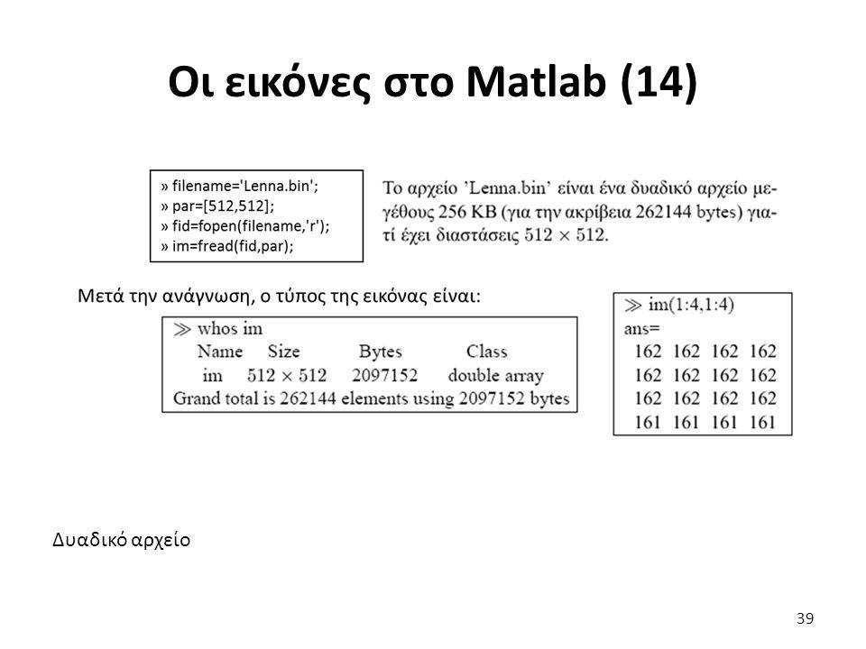 Οι εικόνες στο Matlab (14)
