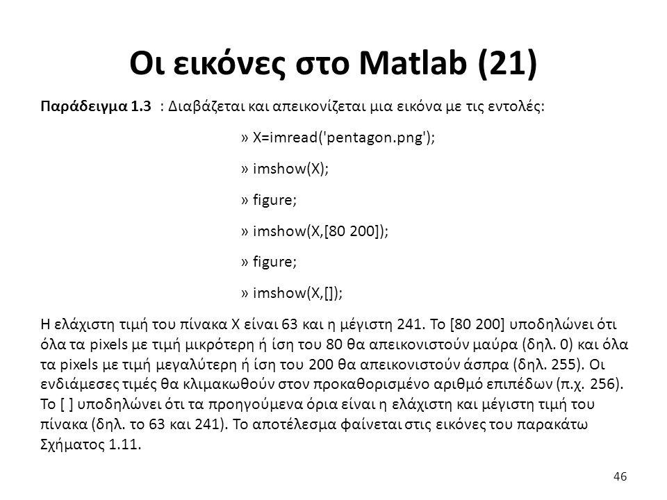 Οι εικόνες στο Matlab (21)