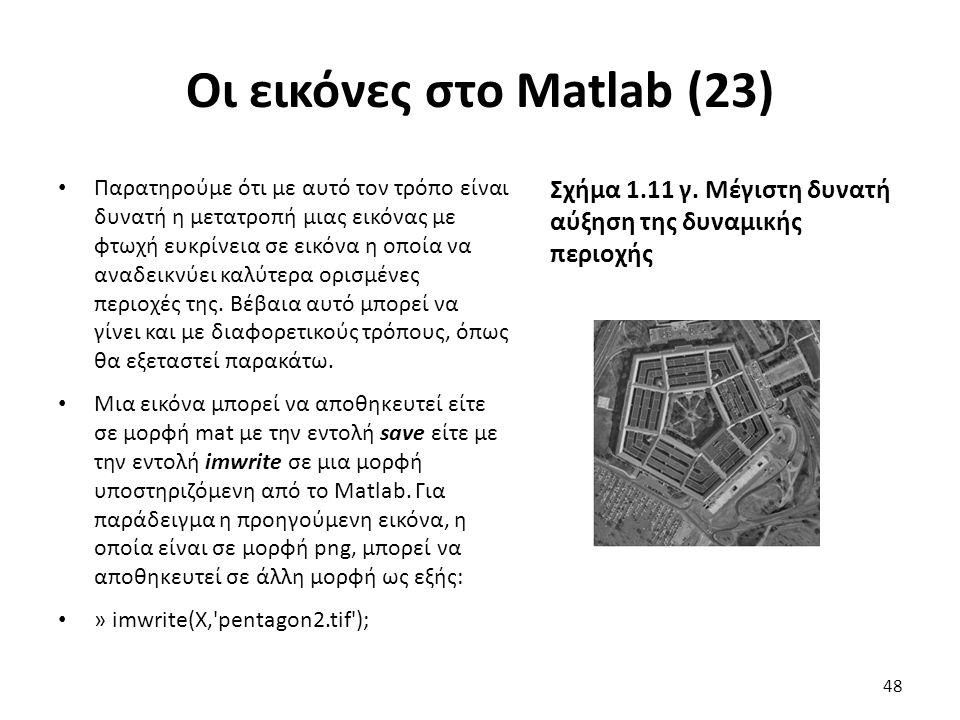Οι εικόνες στο Matlab (23)