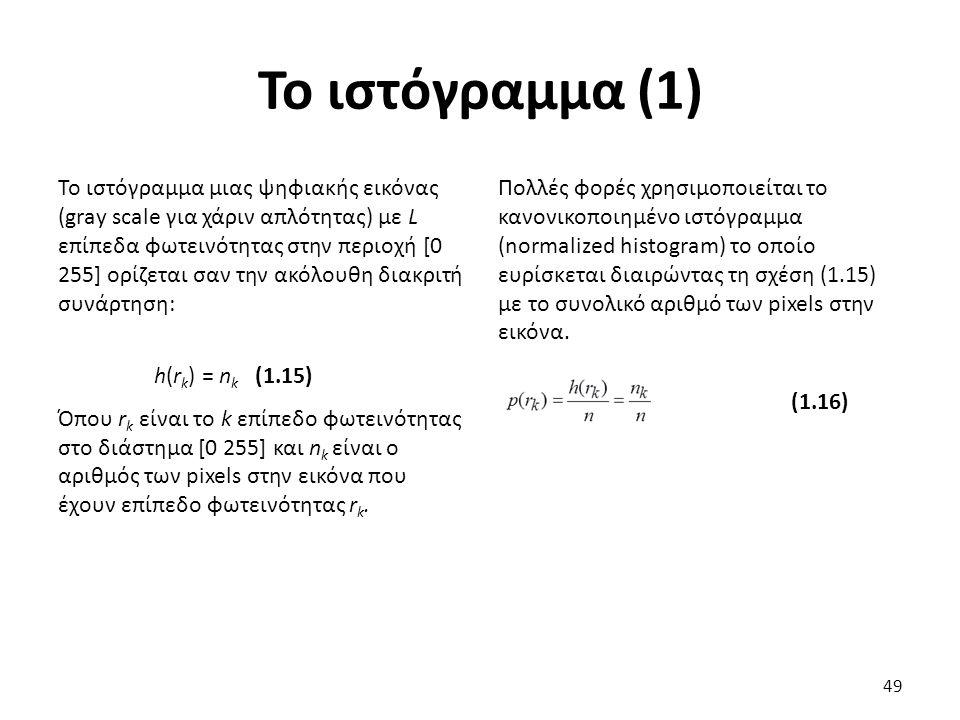 Το ιστόγραμμα (1)