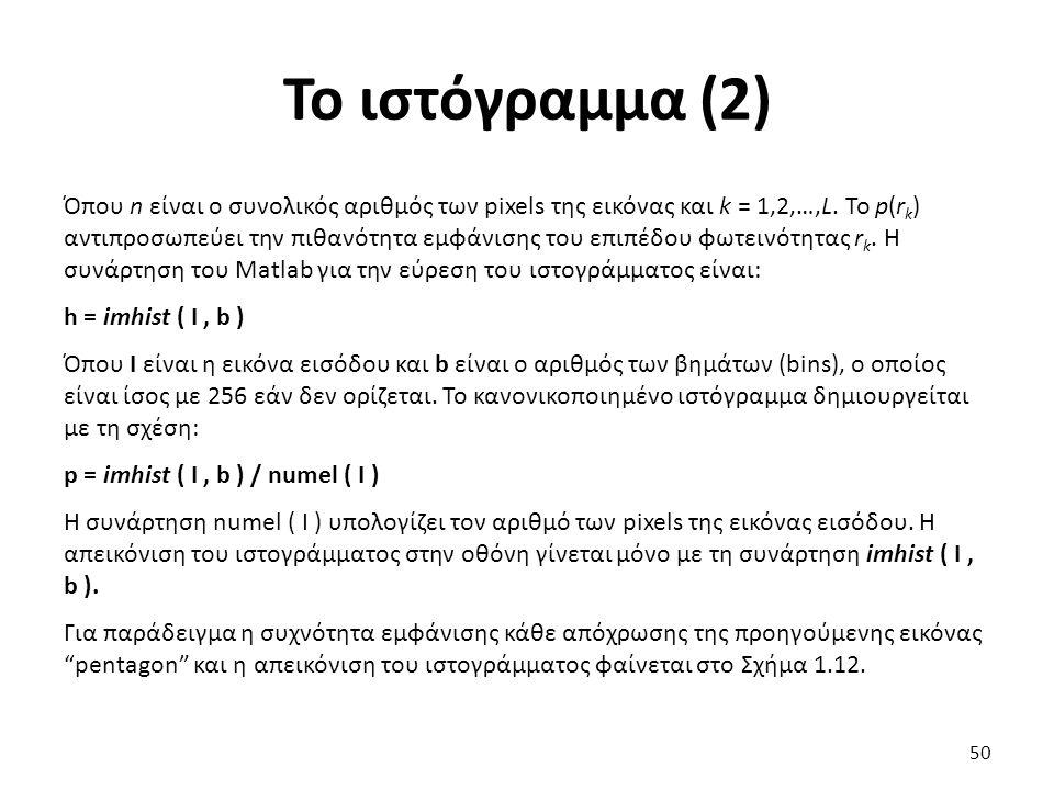 Το ιστόγραμμα (2)