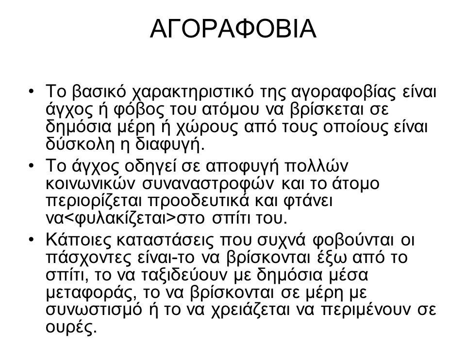 ΑΓΟΡΑΦΟΒΙΑ