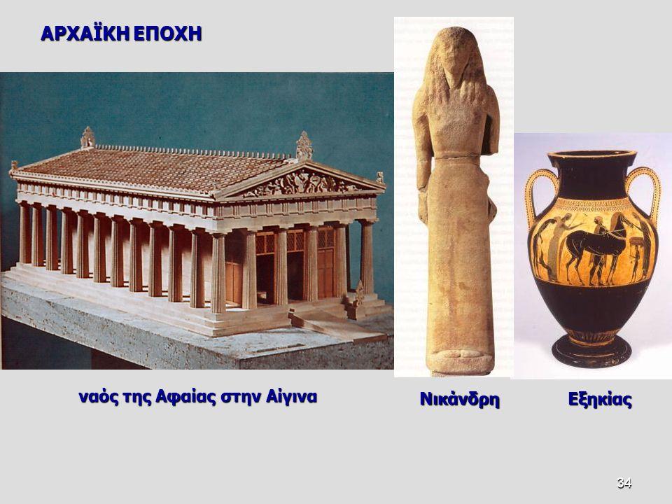 ΑΡΧΑΪΚΗ ΕΠΟΧΗ ναός της Αφαίας στην Αίγινα Νικάνδρη Εξηκίας