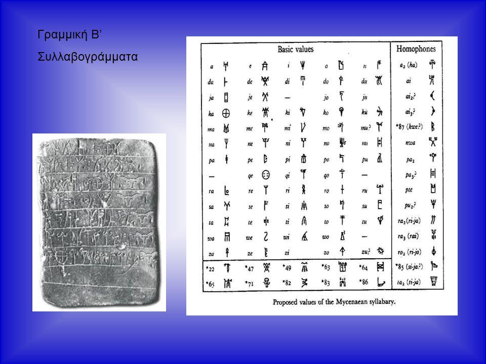 Γραμμική Β' Συλλαβογράμματα
