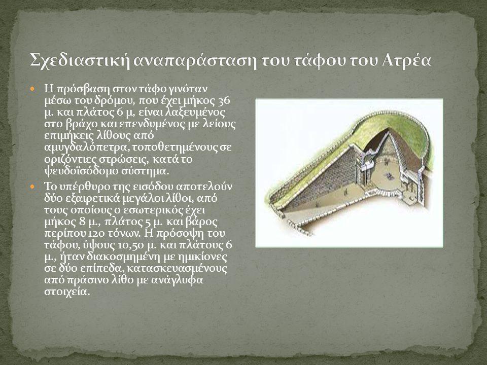 Σχεδιαστική αναπαράσταση του τάφου του Ατρέα