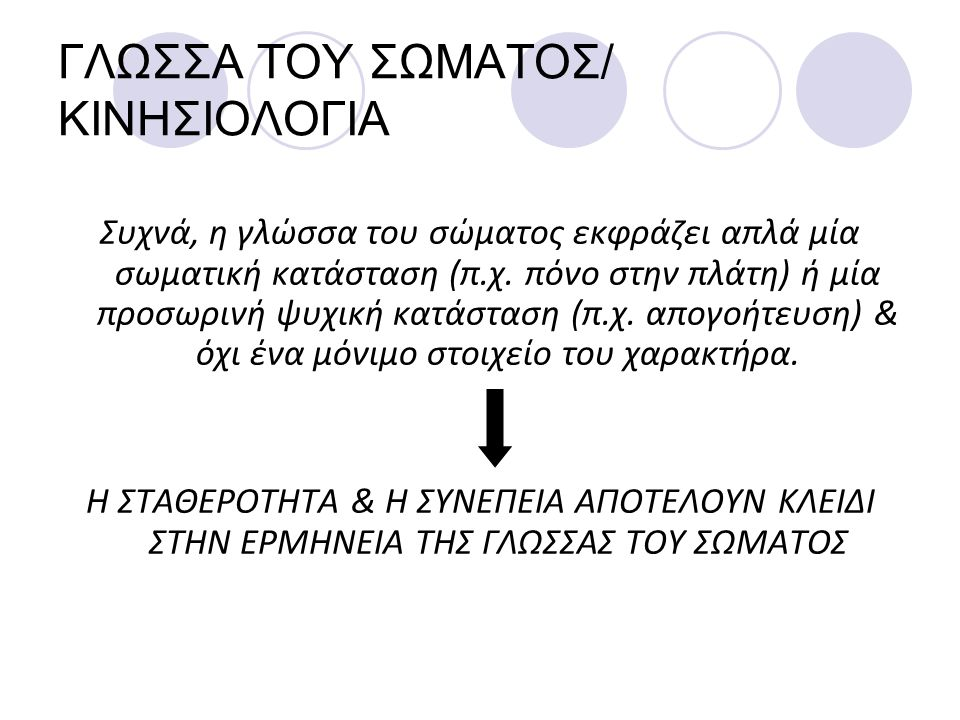 ΓΛΩΣΣΑ ΤΟΥ ΣΩΜΑΤΟΣ/ ΚΙΝΗΣΙΟΛΟΓΙΑ