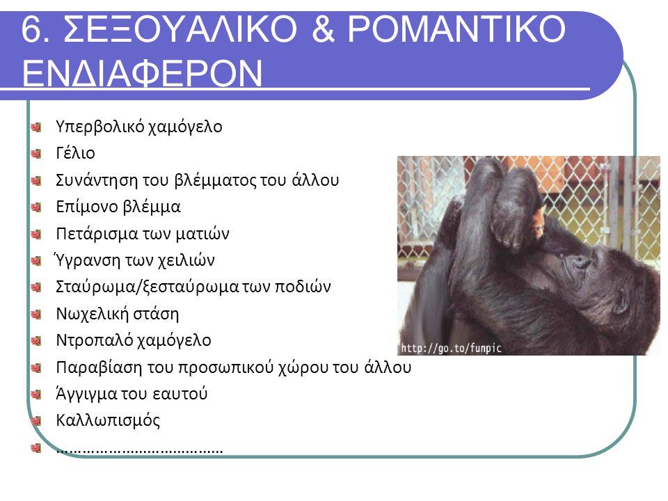 6. ΣΕΞΟΥΑΛΙΚΟ & ΡΟΜΑΝΤΙΚΟ ΕΝΔΙΑΦΕΡΟΝ
