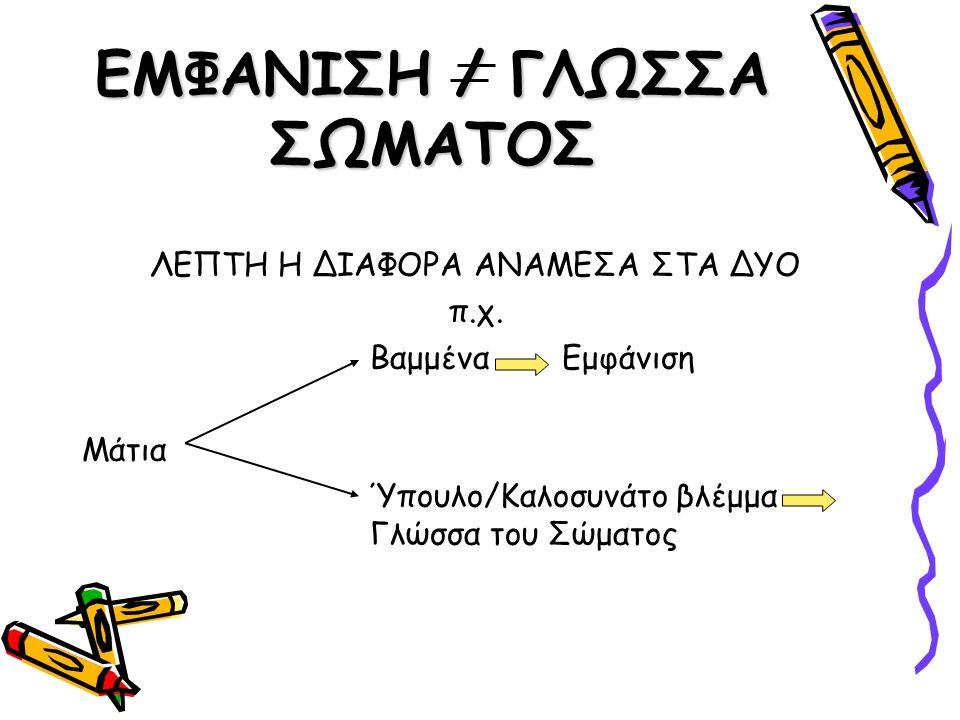 ΕΜΦΑΝΙΣΗ / ΓΛΩΣΣΑ ΣΩΜΑΤΟΣ