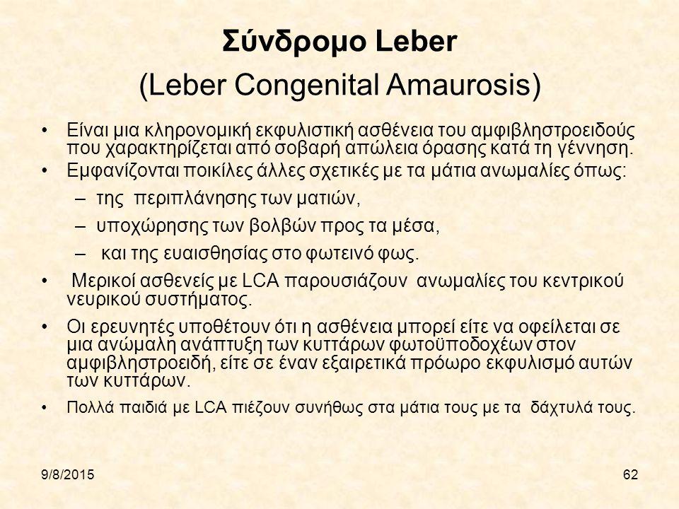 Σύνδρομο Leber (Leber Congenital Amaurosis)