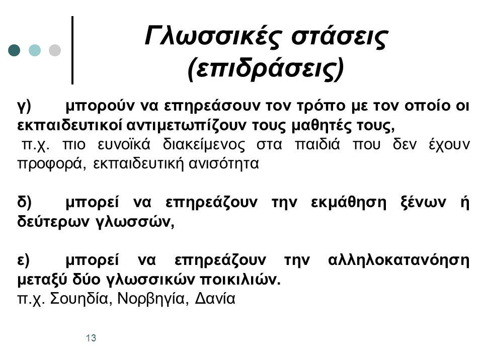 Γλωσσικές στάσεις (επιδράσεις)