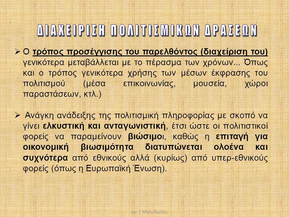 ΔΙΑΧΕΙΡΙΣΗ ΠΟΛΙΤΙΣΜΙΚΩΝ ΔΡΑΣΕΩΝ