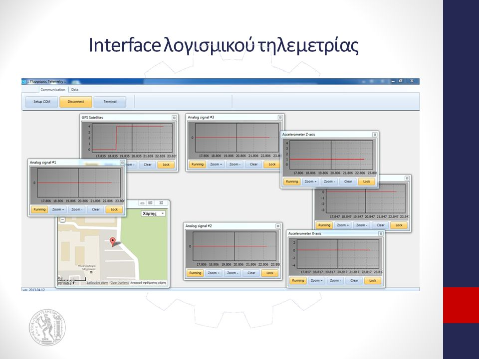 Interface λογισμικού τηλεμετρίας