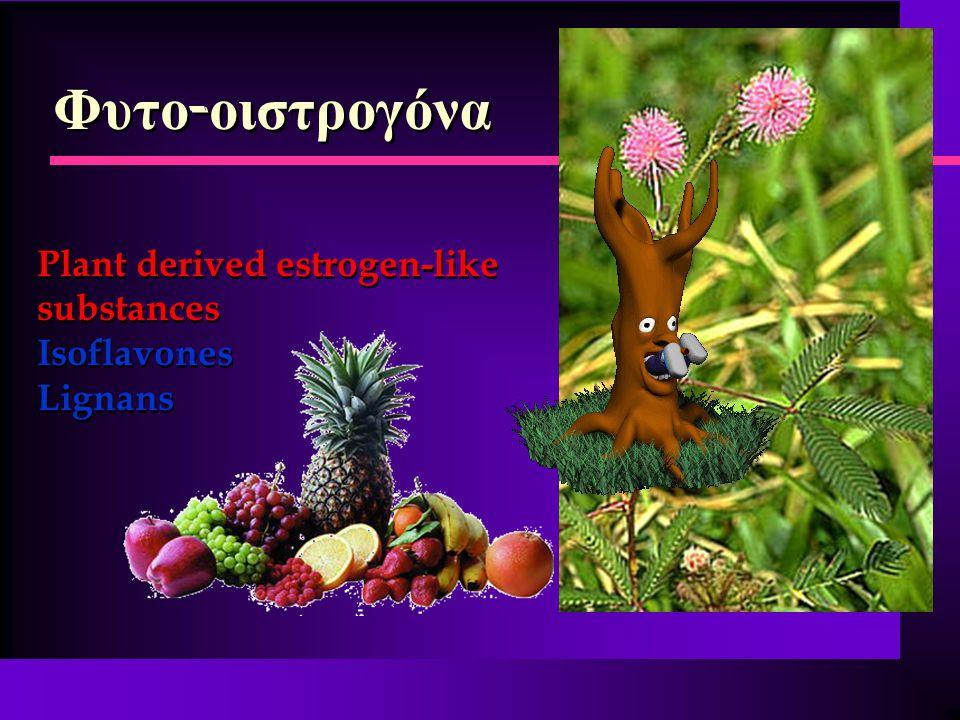 Φυτο-οιστρογόνα Plant derived estrogen-like substances Isoflavones