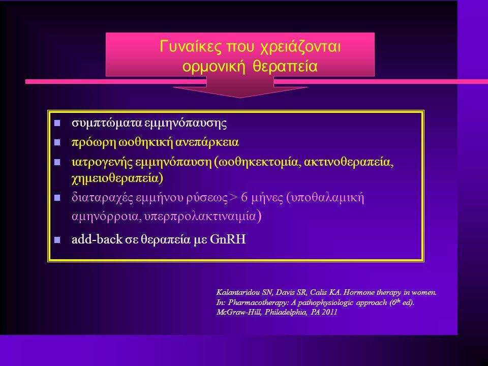 Γυναίκες που χρειάζονται ορμονική θεραπεία