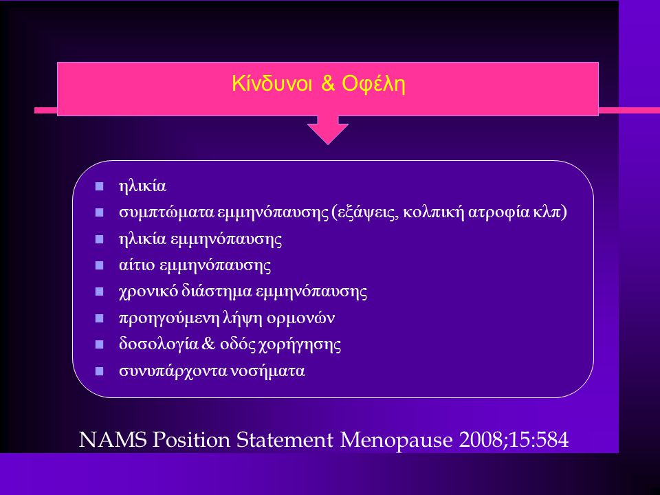 NAMS Position Statement Menopause 2008;15:584
