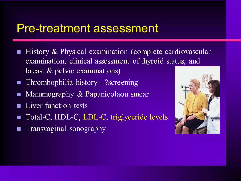 Pre-treatment assessment