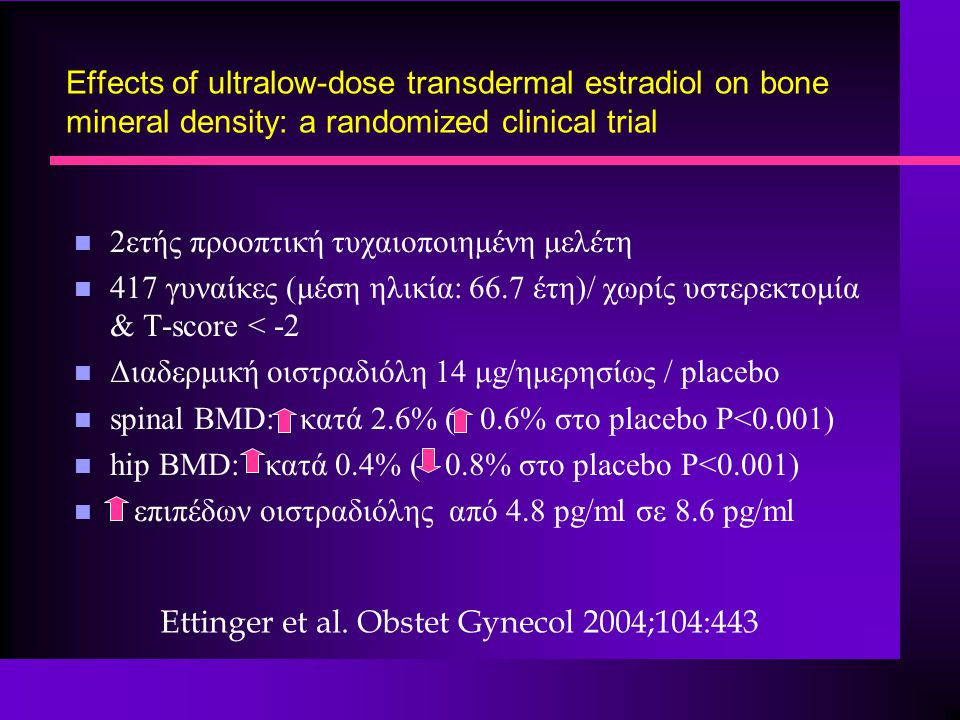 Effects of ultralow-dose transdermal estradiol on bone mineral density: a randomized clinical trial