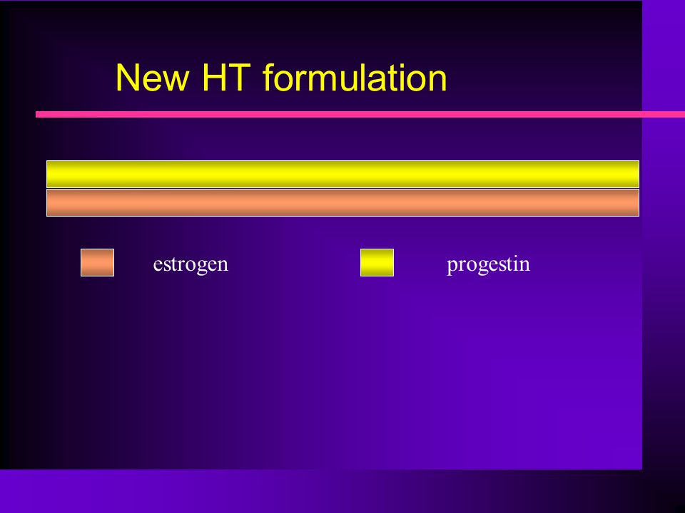 New HT formulation estrogen progestin