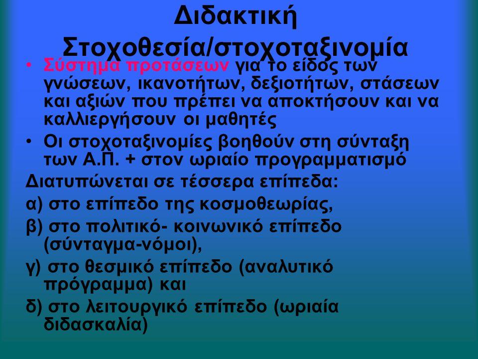 Διδακτική Στοχοθεσία/στοχοταξινομία
