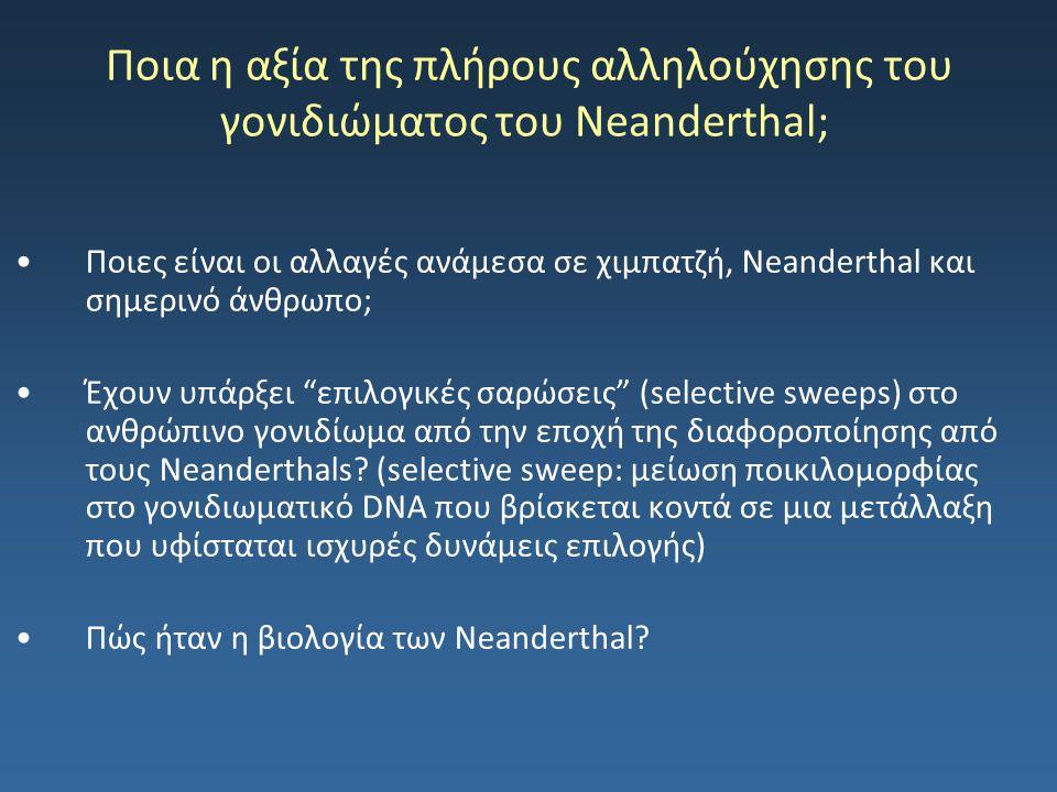 Ποια η αξία της πλήρους αλληλούχησης του γονιδιώματος του Neanderthal;